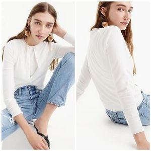 EUC J.Crew White Jackie Cardigan Size Medium